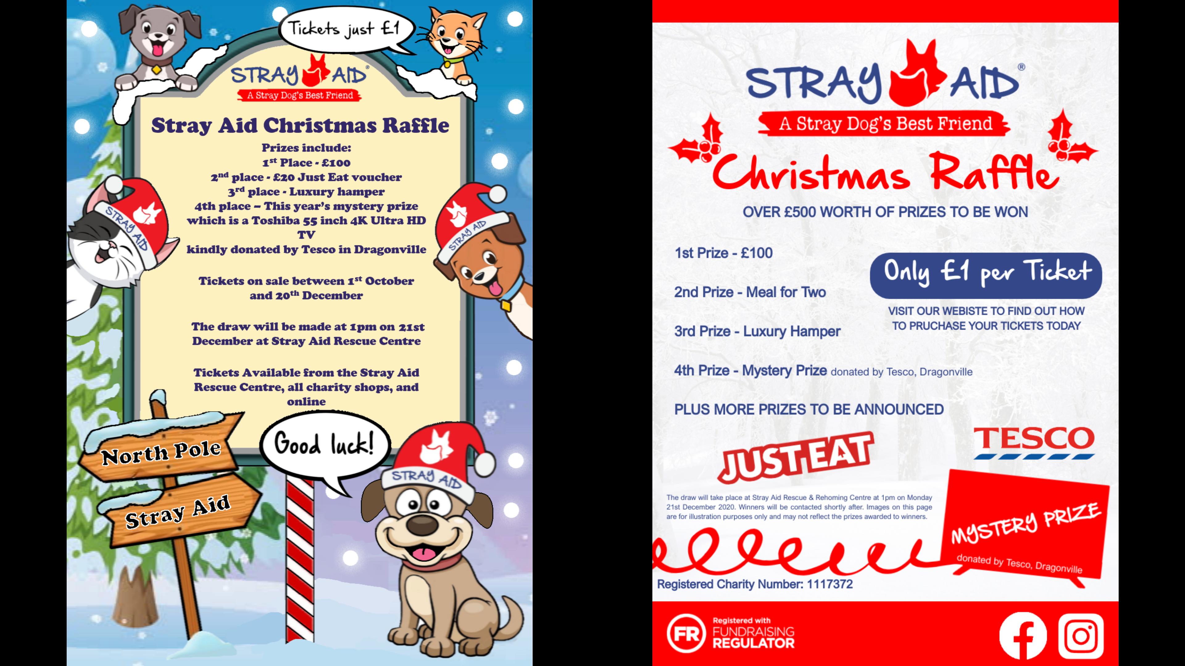 Christmas Raffle Posters